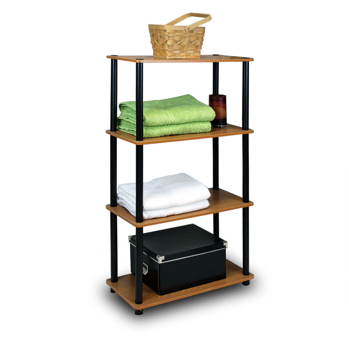4 Tier Storage Shelf Display Rack For Bathroom Closet Home Office Living Room Ebay