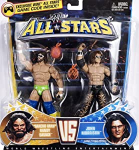 Mattel WWE Wrestling Exclusive All Stars Action Figure 2Pack Macho Man Randy Savage Vs. John Morrison