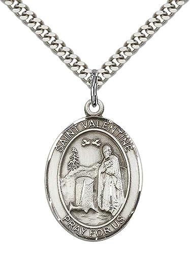 St. Valentine of Rome Silver Pendant