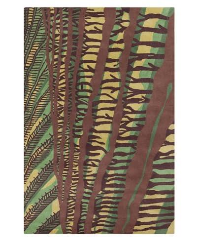 Filament Freddie Rug, Green/Brown, 5' x 7' 6'