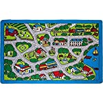 Kids Rug Street Map in Grey 5 X 7 Children Area Rug - Non Skid Gel Backing (59