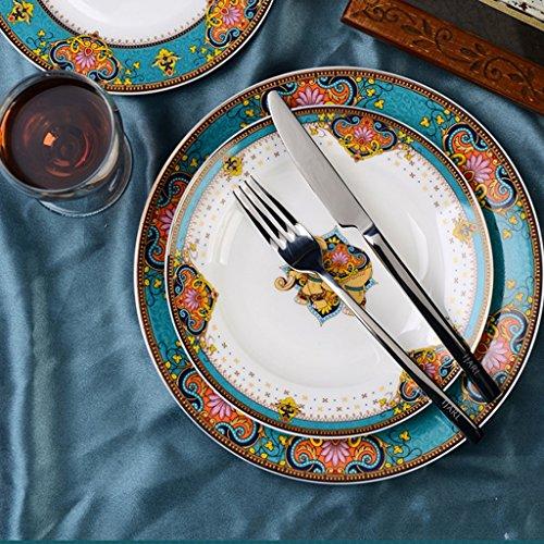 Style Assiette Assiette Assiette ménages Céramique Vaisselle européenne Facile à nettoyer haut de gamme Ambiance