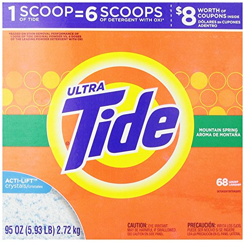 Tide Ultra Mountain Spring Scent Powder Laundry Detergent 68 Loads 95 Oz