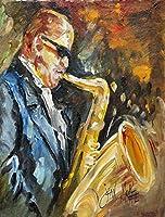 Caroline's Treasures JMK1186CHF Jazz Saxophone Flag Canvas, Large, Multicolor