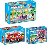 PLAYMOBIL® Summer Fun Parc d'attractions Set en 3 parties 5547 5553 5632 Stand de Cha