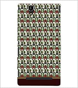 PrintDhaba Pattern D-1657 Back Case Cover for SONY XPERIA T2 ULTRA (Multi-Coloured)