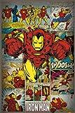 "1art1 59903 Poster ""Iron Man Retro Marvel Comics"" 91 x 61cm"