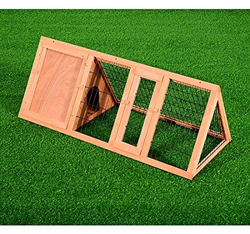 Pawhut – Gabbia per Conigli e Animali Domestici in Legno di Abete 118 x 50 x 45cm