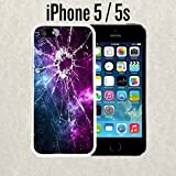 iPhone Case Cracked Screen Prank for iPhone 5 / 5s Rubber White (Ships from CA)