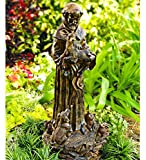 "Wind & Weather Resin St. Francis Statue - 10½""W x 22""H"