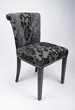 Two Sandringham Baroque Charcoal Chairs