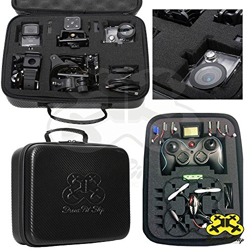 DIY-Carrying-Case-Small-for-Mini-Drone-Quadcopter-Action-Cameras-Pre-cut-Pick-and-Pluck-Foam-Will-fit-Syma-Hubsan-JJRC-Cheerson-Holystone-GoPro-SJCAM-Waterproof-EVA-Maximum-Protection