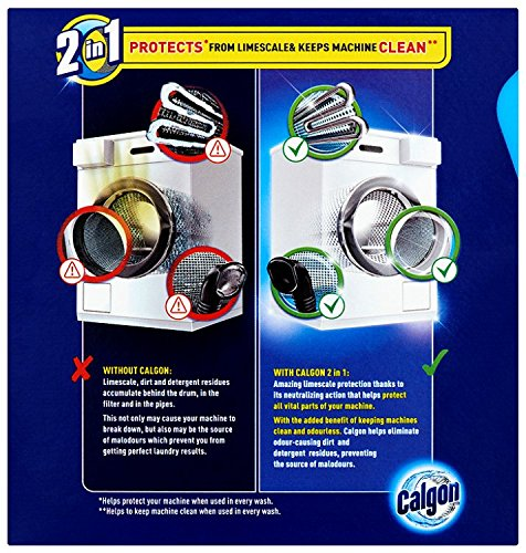 Calgon 2-in-1 Water Softener Powder 600g - Pack of 7