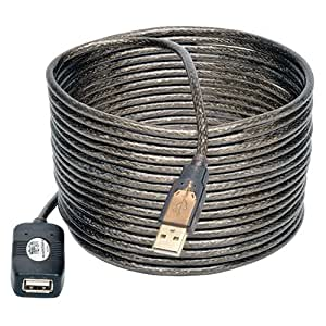 Tripp Lite U026-016 16ft 5M USB2.0 A/A Active Extension/Repeater Cable, 16 Feet