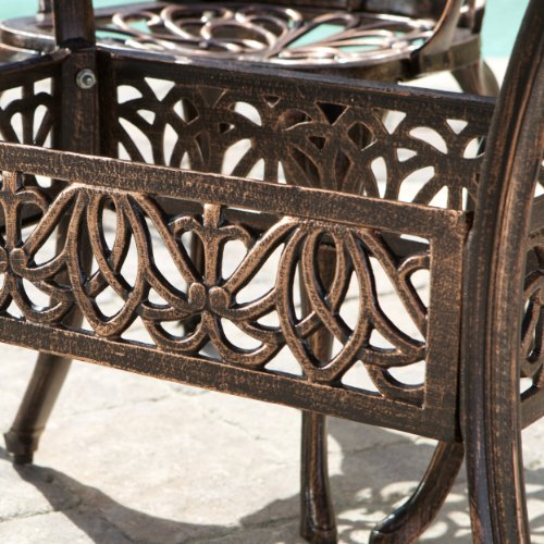 Gardena Cast Aluminum Outdoor Dining Set (Set of 7) 5