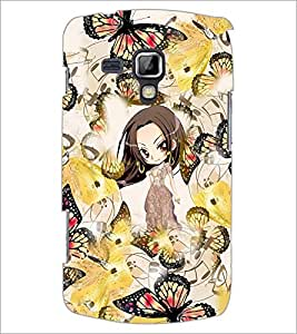 PrintDhaba Butterflies D-3764 Back Case Cover for SAMSUNG GALAXY S DUOS 2 S7582 (Multi-Coloured)