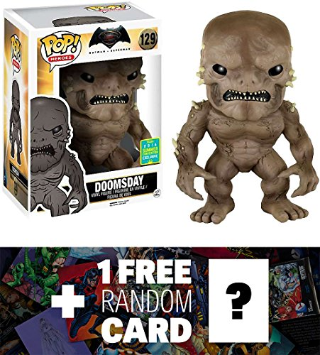 """Doomsday (2016 Summer Exclusive): ~6"""" Deluxe Funko POP! x Batman v Superman 'Dawn of Justice' Figure + 1 FREE Official DC Trading Card Bundle (098315)"""