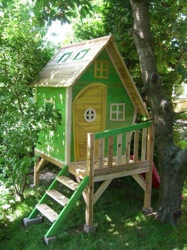 Kinderspielhaus Holz - Spielhaus aus Holz