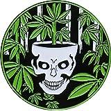 Rainforest Pot Leaf Skull Enamel Pin