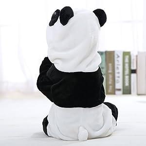 81098a361 ... IDGIRL Unisex-baby Winter Flannel Romper Panda Outfits Suit Panda 70CM  Panda 3-5