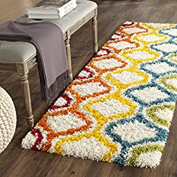 Safavieh Safavieh Kids Shag Collection SGK561A Ivory and Multi Area Rug, 2 feet 3 inches by 5 feet (2\'3\