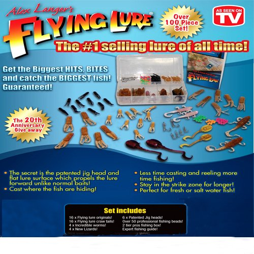 Alex langer 39 s flying lure fishing lure kits for As seen on tv fishing lures