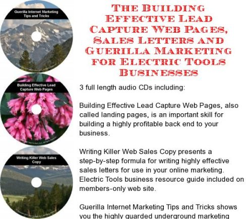 The Guerilla Marketing, Building Effective Lead Capture Web Pages, Sales Letters For Electric Dryers Businesses