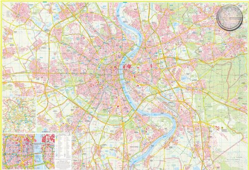 Köln – Stadtplan mit Postleitzahlen – Pinnwand, matt antireflexierend laminiert (beschreib- u. abwaschbar), im Alurahmen gerahmt silber matt