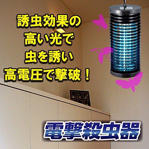 オーム電機 電撃殺虫器 (ブラック) OBK-4S(B)