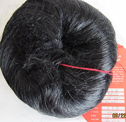 "Monique Craft Doll Hair Wig Style 113 Bebe Fits Size 12"" To 13"" Color Black Synthetic Japan Fiber (Made In China) front-920647"