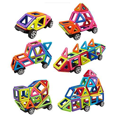 Crazo 76 Piezas Accesorios Magnético Azulejos Construcción Bloques Niños Juguetes Juegos bloque Imán Imanes Magformers