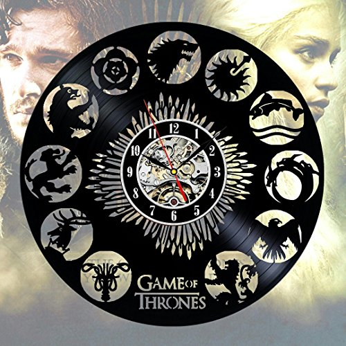 Game of thrones accessories Vinyl Record Wall Clock Gift Art Decor Home