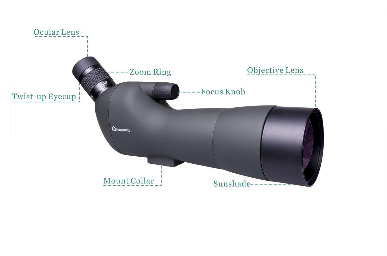 Emarth 20-60x60AE Waterproof Angled Spotting Scope