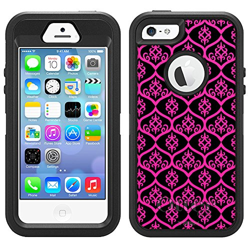 Otterbox Defender Case for Apple iPhone 5S - Victorian Tileable Pink on Black discount price 2016
