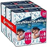 Huggies DryNites Boys Pants 8-15 Years - 6 Packs (9 Pants Per Pack, 54 Pants Total)