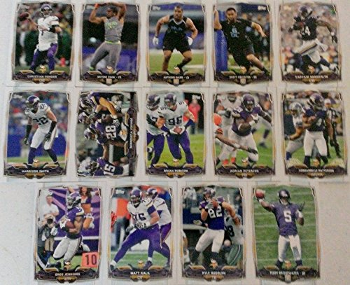 2014 Topps Football Minnesota Vikings Team Set In a Protective Case - 14 cards including Kyle Randolph, Captain Munnerlyn, Cordarrelle Patterson, Adri…