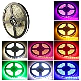 Waterproof RGB LED Light Strip, 16.4FT 5m SMD5050 300LEDs RGB Color Changing Flexible LED Strip...