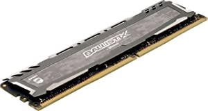 Ballistix Sport LT 16GB Kit (8GBx2) DDR4 3200 MT/s (PC4-25600) CL16 SR x8 DIMM 288-Pin Memory - BLS2K8G4D32AESBK (Gray), 16GB Kit (8GBx2) SR (Color: Gray, Tamaño: 16GB Kit (8GBx2) SR)