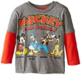 Disney Little Boys' Mickey Mouse and Friends Toddler Two-Fer Tee