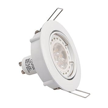 8 lighting ever plafonnier plafonnier encastr led 4w equivalente une ampoule ampoule. Black Bedroom Furniture Sets. Home Design Ideas
