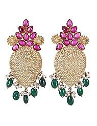 Amethyst By Rahul Popli Green Silver Stud Earrings - B00OYSBSYQ