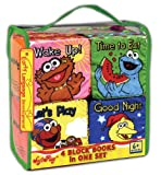 All Day with Sesame: Wake Up, Time to Eat, Let's Play, Good Night! (4 Cloth Block Books Set) (Sesame Street)