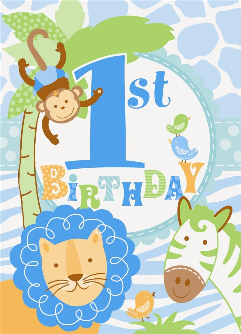 Boys First Birthday Party Invitations – Safari First Birthday Invitations