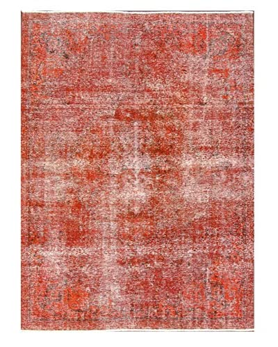 nuLOOM One-of-a-Kind Vintage Hand-Knotted Overdyed Rug, Orange, 7' 7 x 10' 8