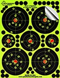 "25 Pack - 4"" ""Stick & Splatter"" - Adhesive Splatterburst Target - Instantly See Your Shots Burst Bright Florescent Yellow Upon Impact!"