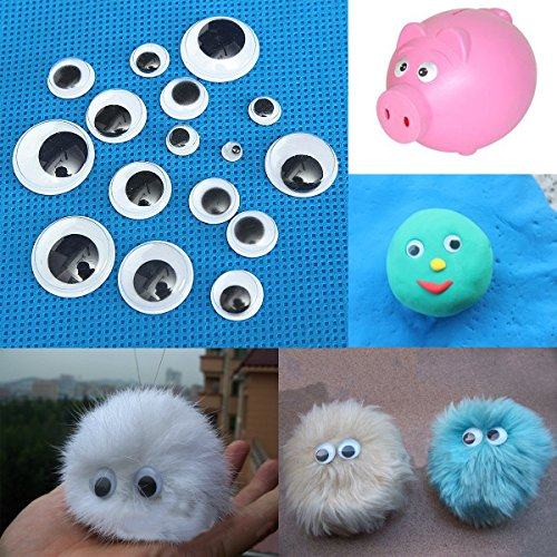 520pcs 5 to20mm 3D Wiggly Eyes Dolls DIY Handcraft Sticky Card Making Wobbly Scrapbooking Adhesive Plastic Toy (Kidcraft Washer compare prices)