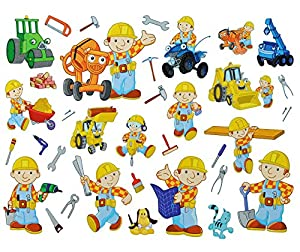 35 tlg xl set fensterbilder sticker bob der for Fensterbilder kinderzimmer