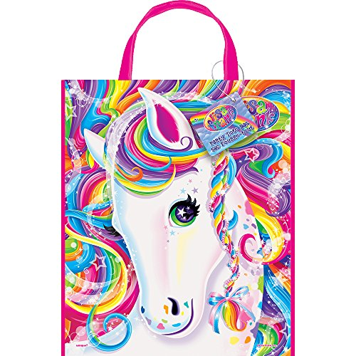 Large Plastic Rainbow Majesty by Lisa Frank Favor Bag, 13 x 11