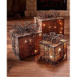 Lighted Gift Box Decor (Natural)