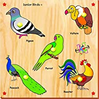 Kinder Creative Junior Birds With Knobs, Brown